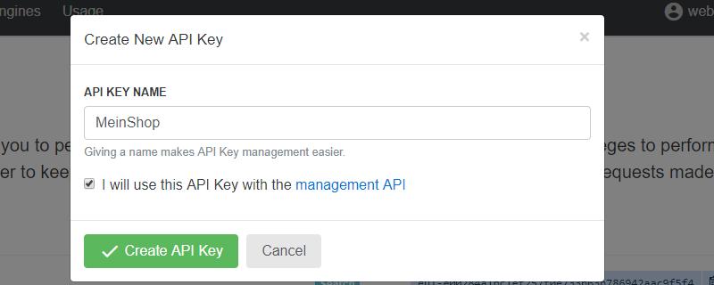 API Key erstellen