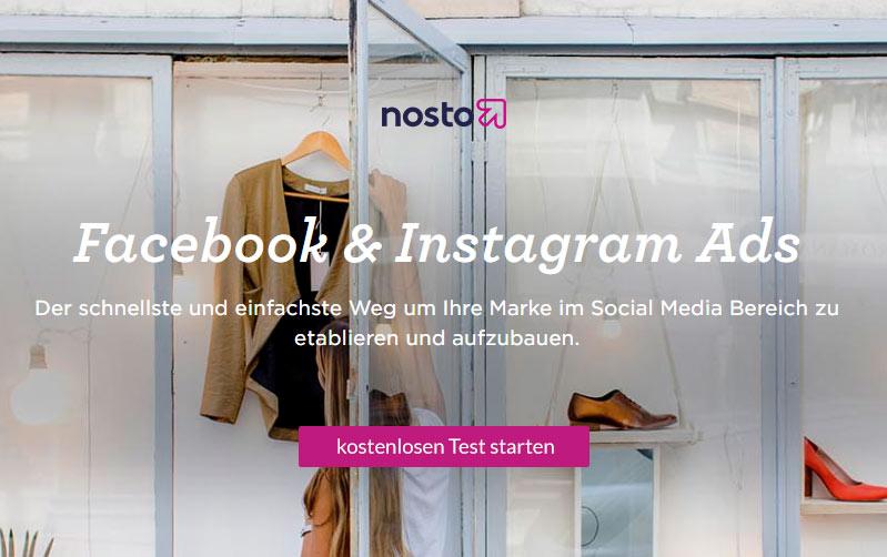 Nosto Facebook und Instagram