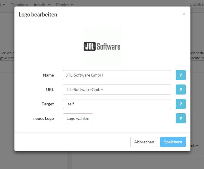 "Dialog ""Logo bearbeiten"" im Shop V4"