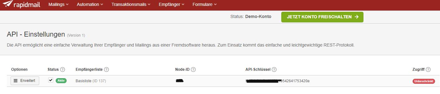 rapidmail API